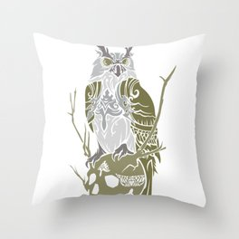 OWL GUARD Throw Pillow