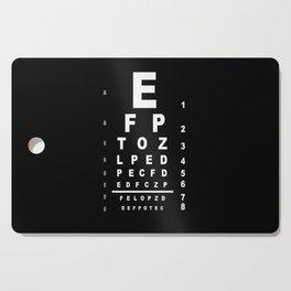Inverted Eye Test Chart Cutting Board