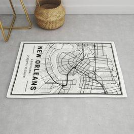 New Orleans Light City Map Rug