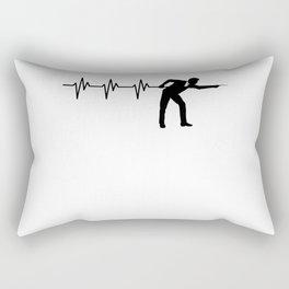 Heartbeat Pool Billiard Stick 8 Ball Snooker Rectangular Pillow