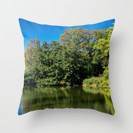Upper Ausee Friedrichsau Ulm Throw Pillow