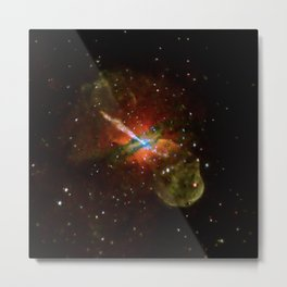1849. Centaurus A: Jet Power and Black Hole Assortment Revealed in New Chandra Image Metal Print