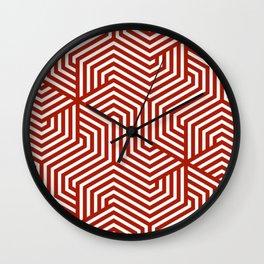 Rufous - red - Minimal Vector Seamless Pattern Wall Clock