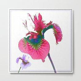 Wild Iris Surrealism Metal Print