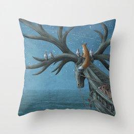 An Island Appeared Throw Pillow