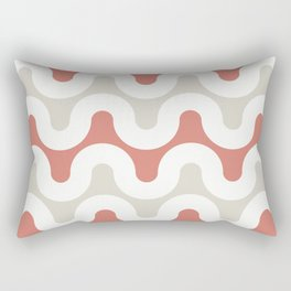 Analog in Coral Rectangular Pillow