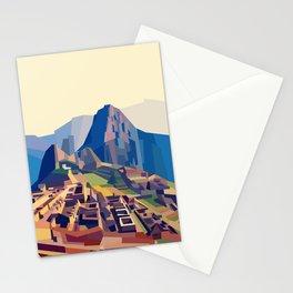 Geometric Machu Picchu, Peru Stationery Cards