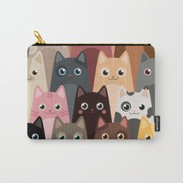 Cats Pattern Carry-All Pouch