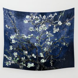 Vincent Van Gogh Almond Blossoms Dark Blue Wandbehang