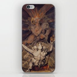The number of the beast is 666 by William Blake iPhone Skin