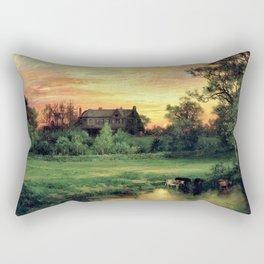 East Hampton, The Hamptons, Long Island Pastoral Sunset landscape painting by Thomas Moran Rectangular Pillow