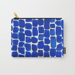 Brick Stroke Blue Carry-All Pouch