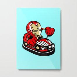 Iron Car Toy – Illu from Dan Roach Metal Print