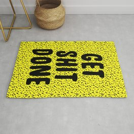Get Shit Done 1980s 1990s Rug