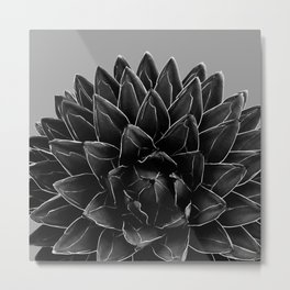 Gray Black Agave Chic #1 #succulent #decor #art #society6 Metal Print