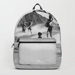 Vintage Hawaii Tandem Surfing Backpack