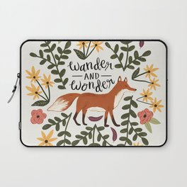 Fox and Flowers - Wander and Wonder Laptop Sleeve