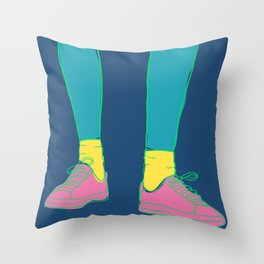Colorful Running Sneakers Throw Pillow