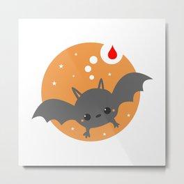 Baby Cute Bat Metal Print