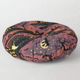 Halloween Night - Bonfire Glow Floor Pillow
