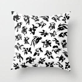 Fish Black and White Throw Pillow