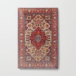 Esfahan Central Persian Rug Print Metal Print