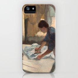 Edgar Degas, Woman Ironing, 1887 iPhone Case