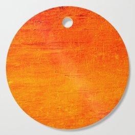 Orange Sunset Textured Acrylic Painting Cutting Board