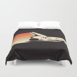 Spaceship - Rainbow Duvet Cover