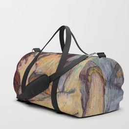 IN BED, THE KISS - HENRI DE TOULOUSE LAUTREC Duffle Bag