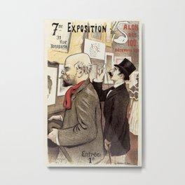 December 1894 7th Salon des 100 Art Expo Paris France Metal Print