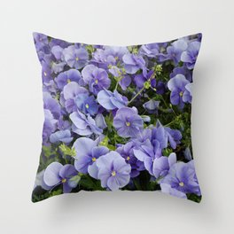 Pansy flower Throw Pillow