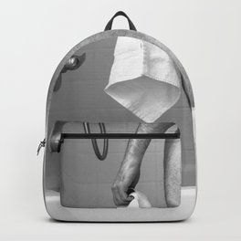 White Hand Towel Backpack