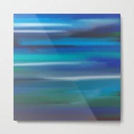 Aegean Blue Abstract Metal Print