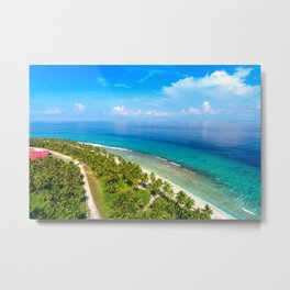 Tropical Island Sea Coast Metal Print