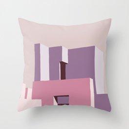 La muralla roja Throw Pillow