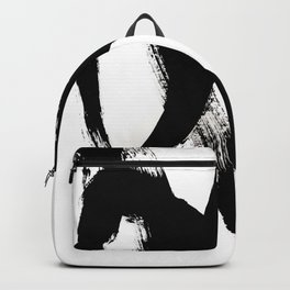 Brushstroke 2 - simple black and white Backpack