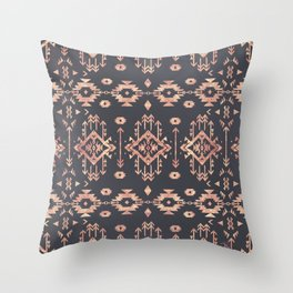 Trendy tribal geometric rose gold pattern Throw Pillow