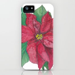 Pointsettia I iPhone Case