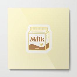 Milk Carton # banana yellow Metal Print