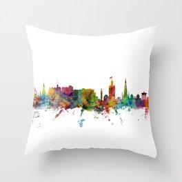 Edinburgh Scotland Skyline Cityscape Throw Pillow