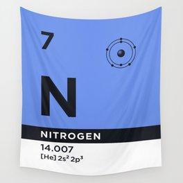 Periodic Element B - 7 Nitrogen N Wall Tapestry