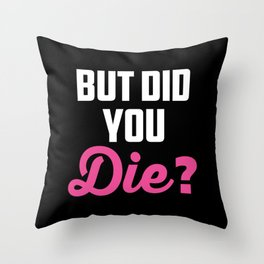 Womens Crazy Nurse But Did You Die? Design Registred Midwife Gift V-Neck design Throw Pillow
