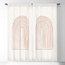 Arch Dusty Orange Blackout Curtain