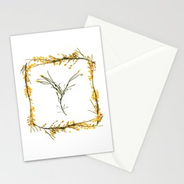 "Seaweed Alphabet ""Y"" Stationery Cards"