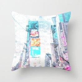 sky scrapped Throw Pillow