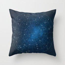 Constellation Star Chart Throw Pillow
