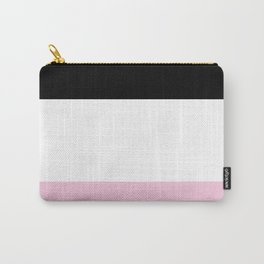 Black White Pink Color Blocks Carry-All Pouch