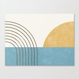 Sunny Ocean Horizon Canvas Print