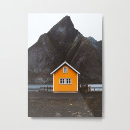 Yellow Cabin Metal Print